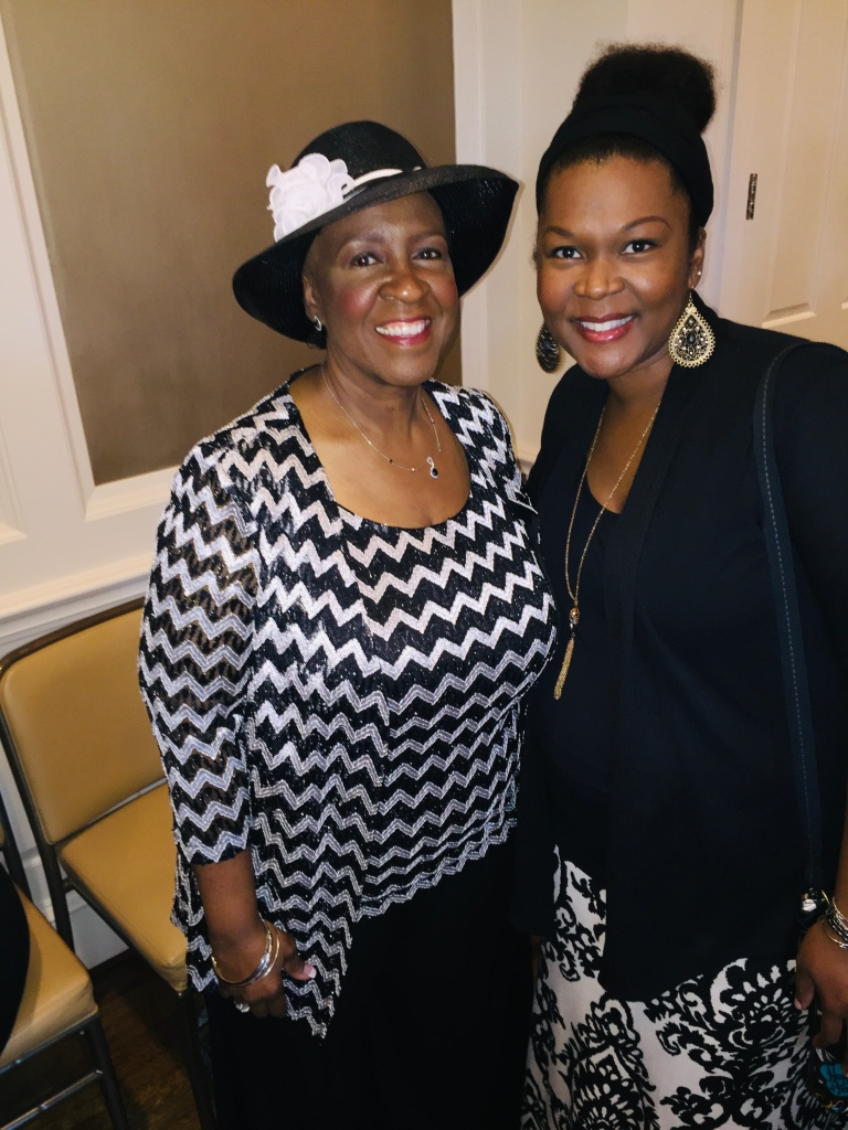 Greta Cherry and Jamie Hodges at Hats Off To Mothers Luncheon